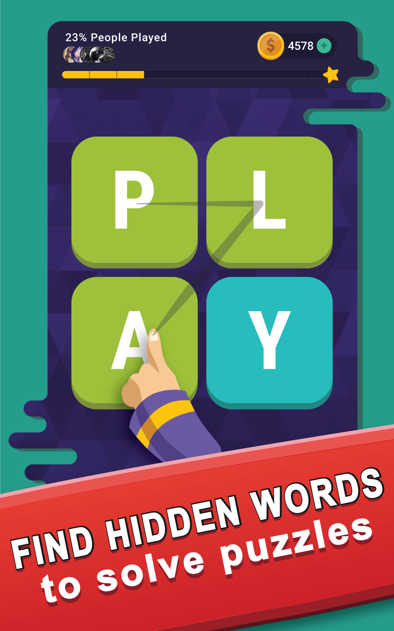 Word Alchemy Easy Grid on Game Screen