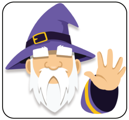 Word Alchemy Wizard saying hey